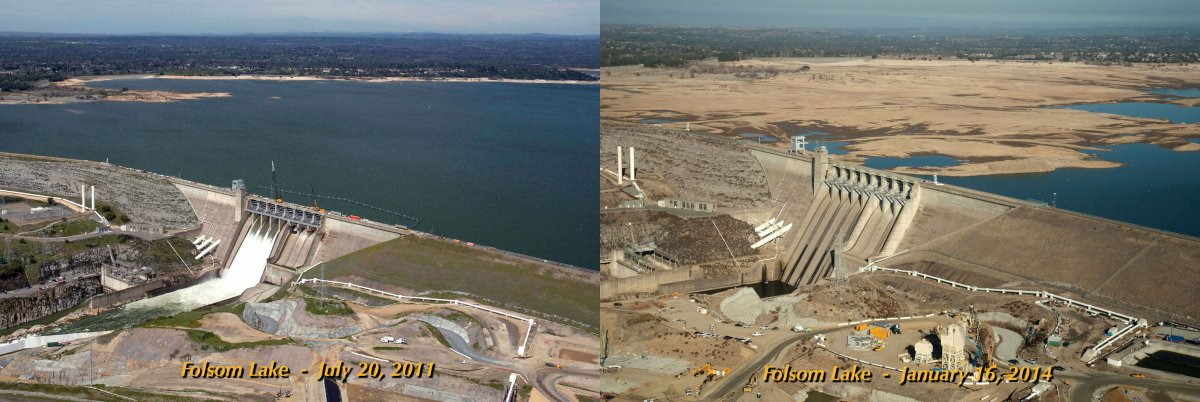 comparison california drought