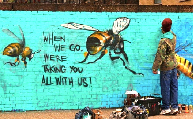 bees artist wall paintings