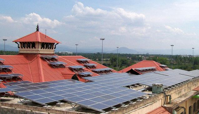 CIAL Airport Solar Kerala India World Largest Solar Airport